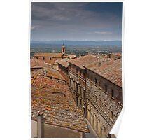 Rooftops of Montepulciano Poster