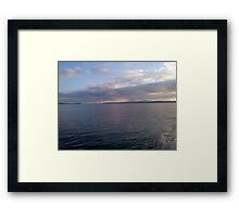 Sunset over the Sea. Isle of Arran and Bute Framed Print