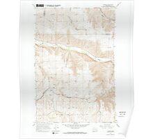 USGS Topo Map Washington State WA Turner 244365 1967 24000 Poster