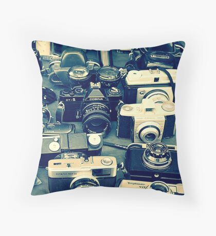 Vintage Camera's   Throw Pillow