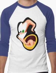 Earthworm Jim Stylized Vector Men's Baseball ¾ T-Shirt