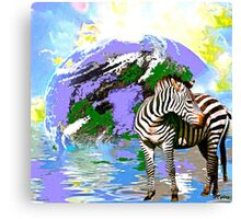 Zebra:  Earth A Home For All Canvas Print