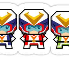 Mekkachibi Voltes Crew Sticker