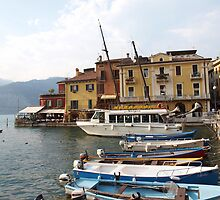 Water Taxi Malcesine by Nigel Byrne