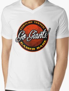 Giants Gamer Babe Mens V-Neck T-Shirt