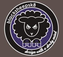 Black Sheep Sk8 Roller Derby Logo Purple by LucyDynamite