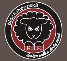 Roller Derby Black Sheep Sk8 logo by LucyDynamite