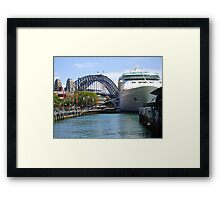 Rhapsody of the Seas, Sydney Framed Print