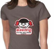 Roller Derby Bleeding it's the new Black by Black Sheep Sk8 Womens Fitted T-Shirt