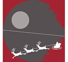 """That's not a moon"" Death Star Santa Christmas design Photographic Print"