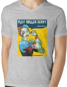 Play Roller Derby Parody Mens V-Neck T-Shirt