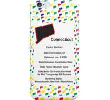Connecticut Information Educational iPhone Case/Skin