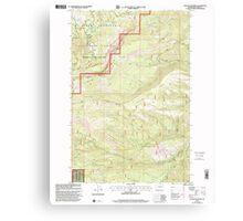 USGS Topo Map Washington State WA Foundation Ridge 241193 2000 24000 Canvas Print
