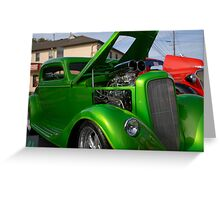 Antic Cars Greeting Card