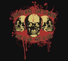 Vintage Triple Skulls with Roller Derby Poem by LucyDynamite