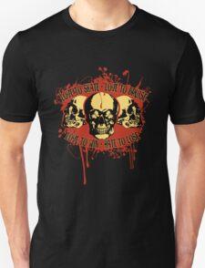 Vintage Triple Skulls with Roller Derby Poem T-Shirt