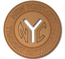 NYC Subway Token by Jeff Vorzimmer