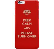 please turn over iPhone Case/Skin