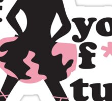 Take off you F*ing Tutu Roller Derby Shirt Sticker