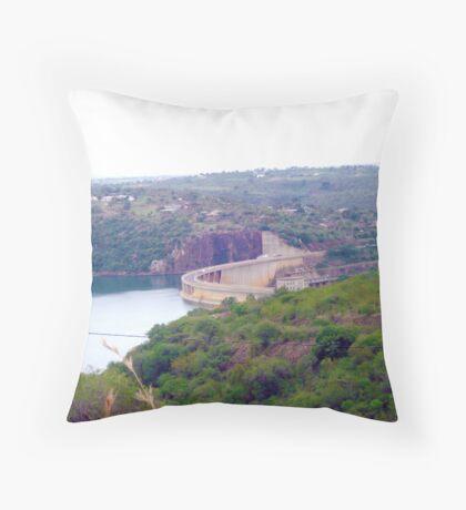 Jozini Dam, gateway to life in KwaZulu-Natal, South Africa Throw Pillow
