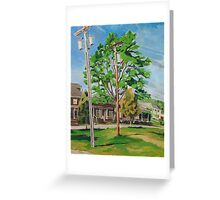 Poles over Hedding Greeting Card
