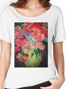 Fanciful Flowers Women's Relaxed Fit T-Shirt
