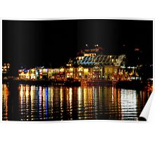 Queenstown Lights on Lake Wakatipu Poster