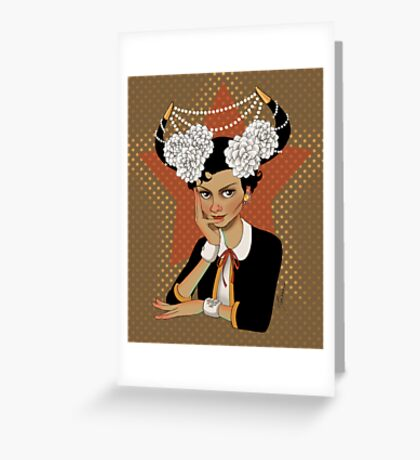 Chanel: the Little Black Bull Greeting Card