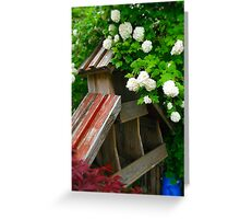 Vacant Flower Stand Greeting Card
