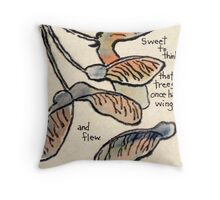 Trees In Flight Throw Pillow
