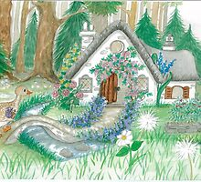 COTTAGE GOOSE by Lynn Wright