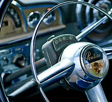 1950 Pontiac Steering Wheel Emblem by Jill Reger