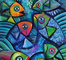 Fish frenzy by Karin Zeller