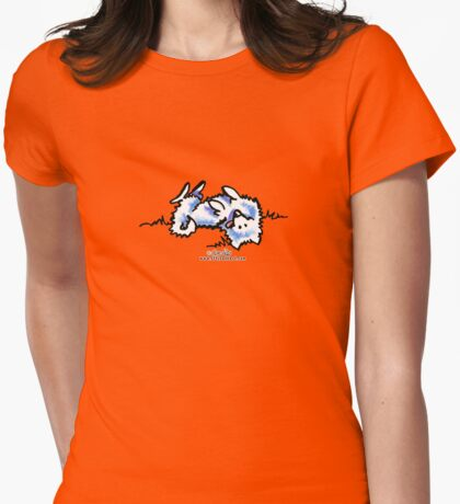 Samoyed Eskie Roll Over Womens Fitted T-Shirt