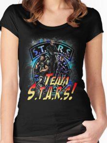 TEAM STARS! MVC3 edition! Albert, WESKER, Jill VALENTINE  and Chris REDFIELD Women's Fitted Scoop T-Shirt