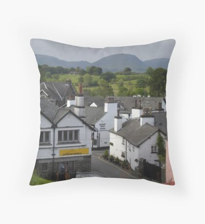 VILLAGE ROOFTOPS Throw Pillow