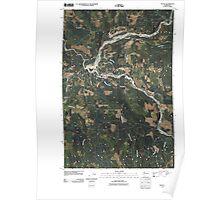 USGS Topo Map Washington State WA Toutle 20110405 TM Poster