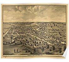 Panoramic Maps Combination atlas map of Logan county Ohio 002 Poster