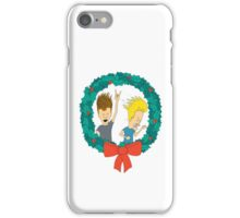 beavis and butthead christmas iPhone Case/Skin