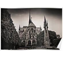 Notre Dame Cathedral from the rear Poster