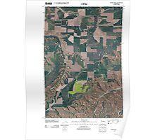 USGS Topo Map Washington State WA Alpowa Ridge 20110406 TM Poster