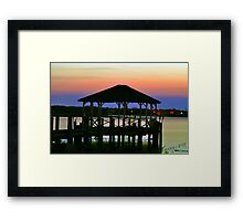 Cabana-silhouette Framed Print