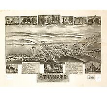 Panoramic Maps Strasburg Lancaster Co Pa 1903 Photographic Print