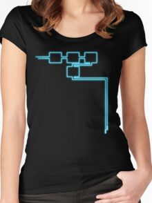Light Tracing (W) Women's Fitted Scoop T-Shirt