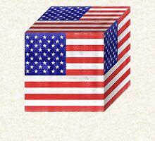 Vintage American Flag Cube Hoodie
