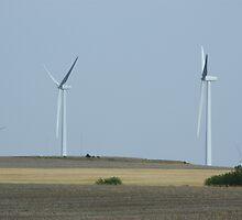 Kansas Country Electric Windmill's by ROBERTDBROZEK