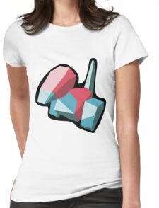 Porygon Stylized Vector Womens Fitted T-Shirt