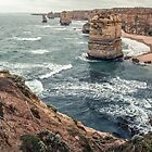 12 Apostles West coast Victoria 19900210 0010  by Fred Mitchell