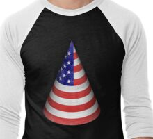 Vintage American Flag Cone Men's Baseball ¾ T-Shirt