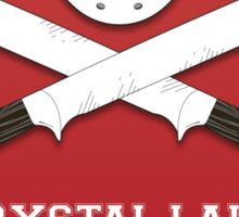 Crystal Lake Machete Club Sticker